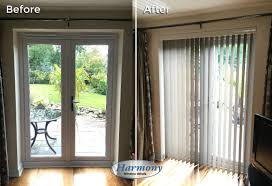 before after stylish vertical blind on patio doors