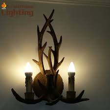 american country style antlers design resin hallway corridor light toilet table light wall lampchina american country style font