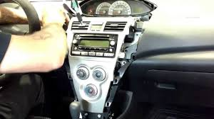 07 Toyota Yaris sedan radio removal - YouTube