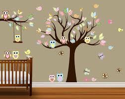 birch tree owl wall decals