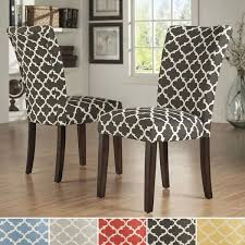 parsons dining room chairs inspire q catherine moroccan pattern fabric parsons dining chair