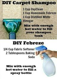 Diy carpet cleaner - 1 cup OxyClean, 1 cup homemade Febreze, 1 cup distilled