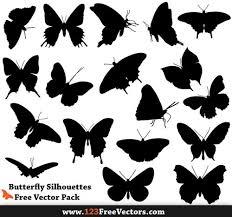 蝶バタフライをモチーフにした無料のベクター素材23セット Co Jin