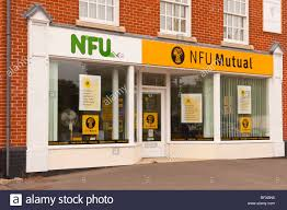 an nfu mutual office in halesworth suffolk uk stock image