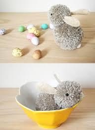 diy pom pom bunny easy easter party craft