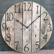 attractive rustic wall clock large best 25 wooden idea on how with plan 7 canada australium for cabin uk south africa nz indium