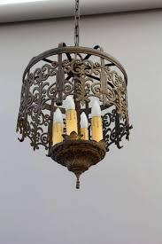 spanish revival lighting. 1stdibs.com | Classic Spanish Revival Chandelier With Cast Filigree Lighting Q