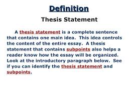 thesis for response to literature 3