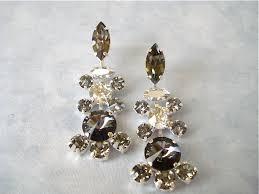 vintage style swarovski black crystal chandelier earrings images of