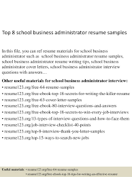 business admin resume top 8 school business administrator resume samples 1 638 jpg cb 1432891840
