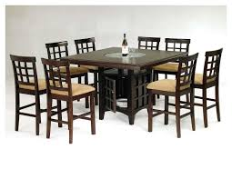 High Top Dining Table With Storage Mission 7 Piece Counter Height Dining Set With Cappuccino Finish