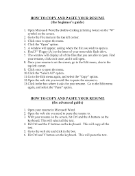 Resume Format Copy And Paste Copy Of A Resume Format Magdalene Project Org