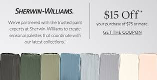 sherwin williams coupon pottery barn