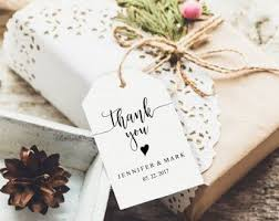 thank you tags for wedding favors printable tags etsy