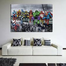 office canvas art. Image Is Loading 1PC-Home-Superhero-Ink-Painting-Office-Wall-Canvas- Office Canvas Art