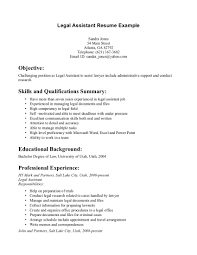 Objective For Legal Assistant Resume Legal Secretary Resume Therpgmovie 13