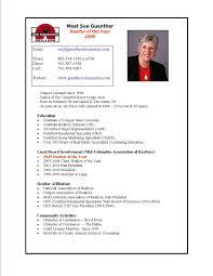 Resume For Realtor Free Realtor Resume Template Broker Resume