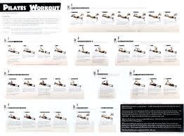 Pilates Reformer Workout Chart Aeropilates Wall Chart Achievelive Co