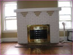 covering brick fireplace painting