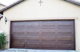 garage door stickingDIY Garage Door Makeover with Stain  Domestically Speaking