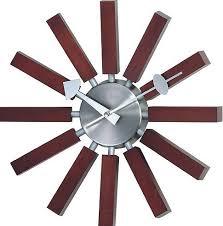 Simmerman Telechron Modern Wall Clock in Walnut