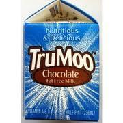 trumoo fat free chocolate milk nutrition