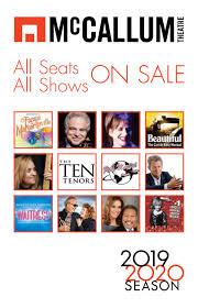 Mccallum Theatre 2019 2020 Season Brochure By Mccallum
