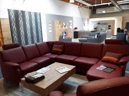Wohnlandschaft U Form Mit Sessel Leder Vivre Rot