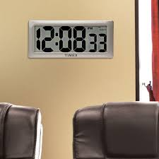timex intelli time digital wall clock 75071t