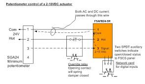 modulating control of fire smoke dampers in smoke control figure 5 potentiometer control of a smoke damper override closed