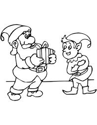 Kerstelf Met De Kerstman Kleurplaat Gratis Kleurplaten Printen