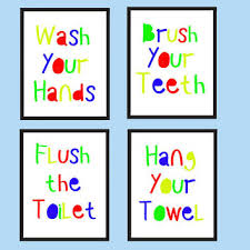 Printable bathroom signs for kids Etsy Kids Bathroom Wall Art Kids Bathroom Decor Bathroom Rules Si Wanelo Best Bathroom Sign To Flush Products On Wanelo