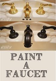 Painting Bathroom Fixtures How To Paint A Faucet Sincerely Sara D