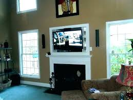 tv above fireplace mounting above fireplace hang gas hiding wires mount hide over hanging cool