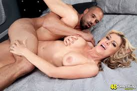 A busty blond mom in action from Mario