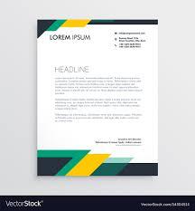 Letterhead Designs Templates Modern Letterhead Design Template With Geometric Vector Image