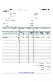 Irish Sales Vat Invoice Tem Mychjp