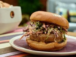 tuna burgers with chipotle slaw recipe marcela valladolid food network