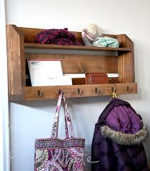 Easy Coat Rack Interesting Ana White Small Pallet Inspired Coat Rack With Shelves DIY Projects