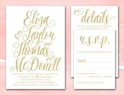 Wedding Invitation Downloads Gold Glitter Wedding Invitations Printable Diy Wedding