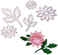 Scrapbooking Embossing Stencils & Folders <b>5pcs</b>/<b>set Flowers Metal</b> ...