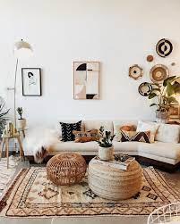 interior boho design living room
