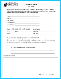 Audition Resume Template Cool Learning To Write An Audition Resume Check More At Http 22