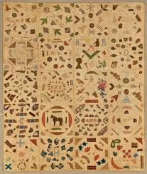 The Common Thread: Quilt Grids | Broad Strokes: The National ... & Pictorial Quilt, ca. 1840; Cotton and cotton thread, 67 ¾ x 85 Adamdwight.com