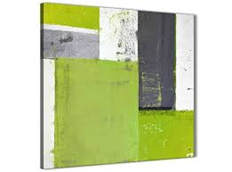 >wallfillers lime green grey abstract painting canvas wall art print  wallfillers lime green grey abstract painting canvas wall art print modern 49cm square 1s339s