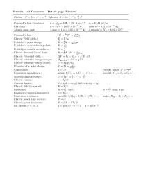 exam 2 equation sheet
