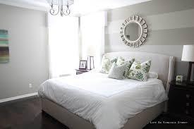 Bedroom Simple Bedroom Striped Bedroom Wall Combined Grey Bed With  Additional Black Bedroom Art