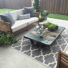 pallet garden furniture for sale. what a stunning outdoor patio with rugs usas aperto moroccan trellis rug pallet garden furniture for sale t
