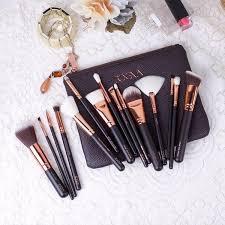 new zoeva 15 pcs rose golden plete makeup brush set professional luxury set make up tools