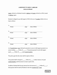 Child Support Agreement Template Wilkesworks
